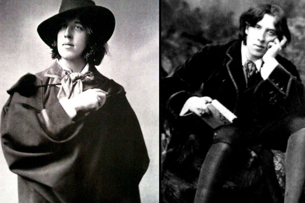 Oscar Wilde en pose de dandy