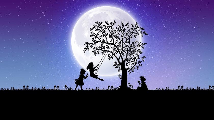 luna y niños